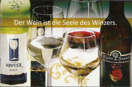 Der Wein ist die Seele des Winzers
